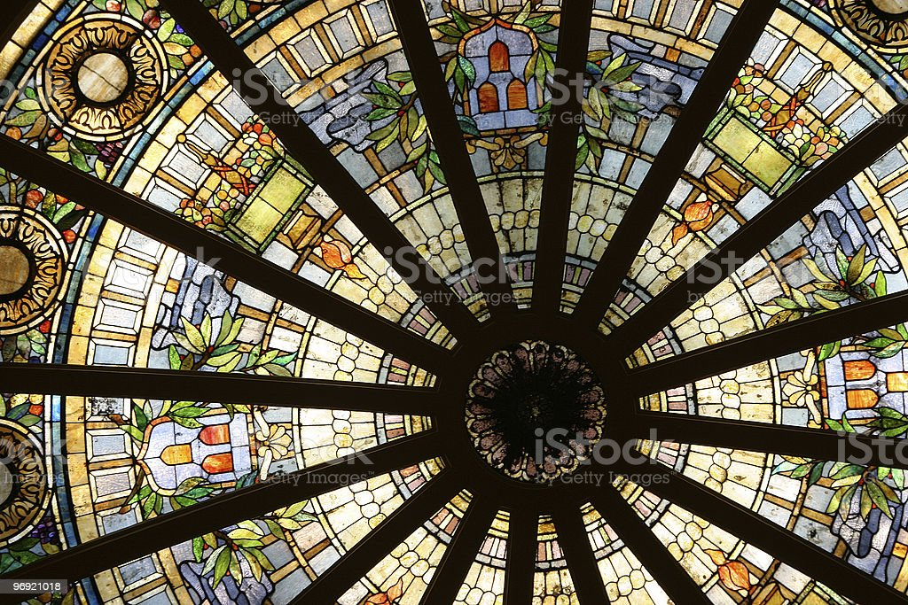 Stained Glass Circle 2 royalty-free stock photo