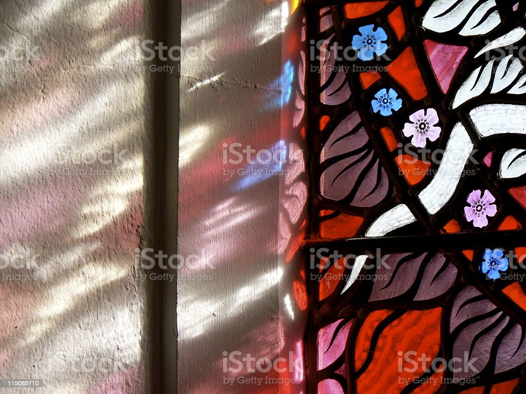 Stained Glass Close-up royalty-free stock photo
