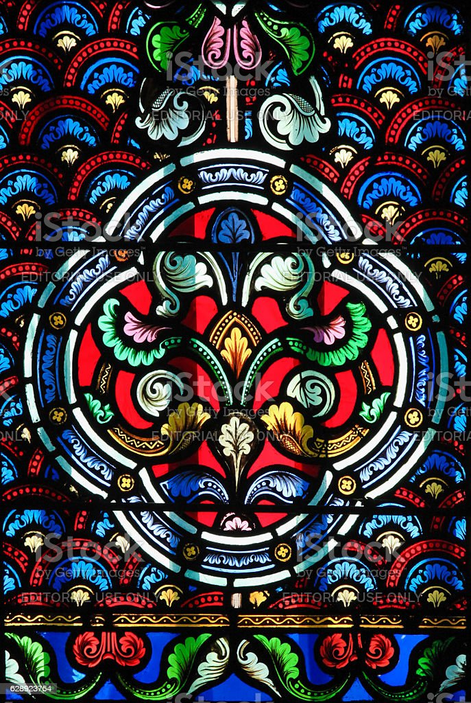 Stained Glass - decorative pattern stock photo