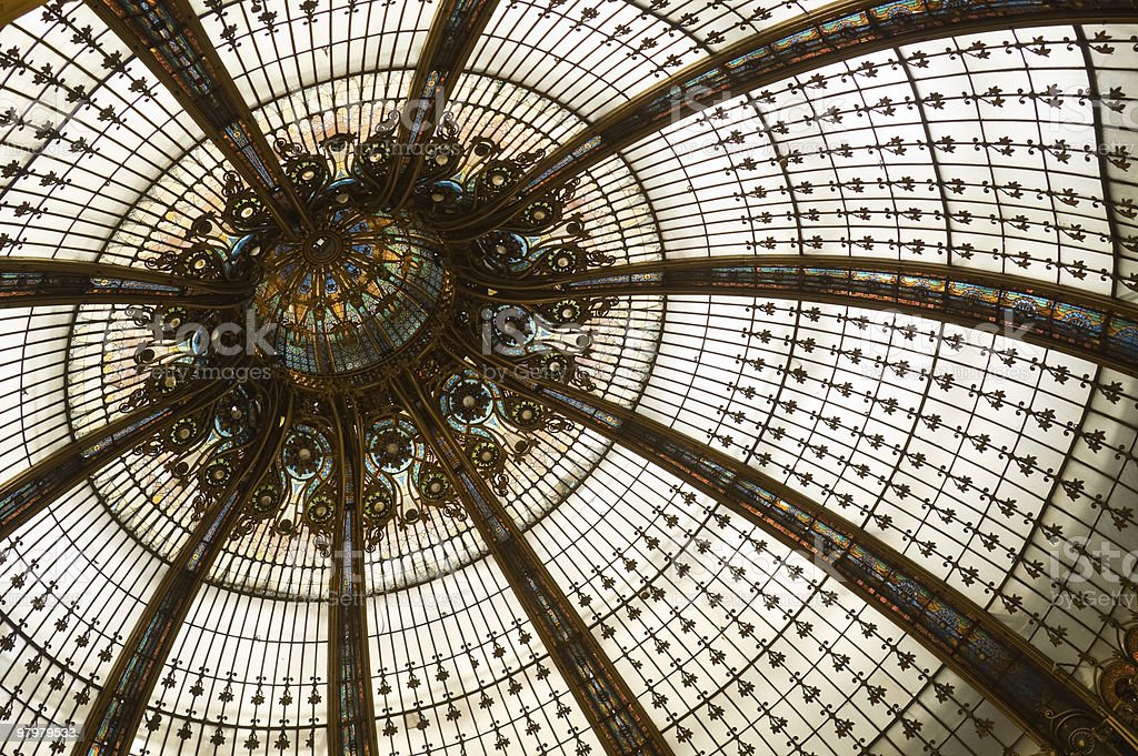 Stained glass dome royalty-free stock photo