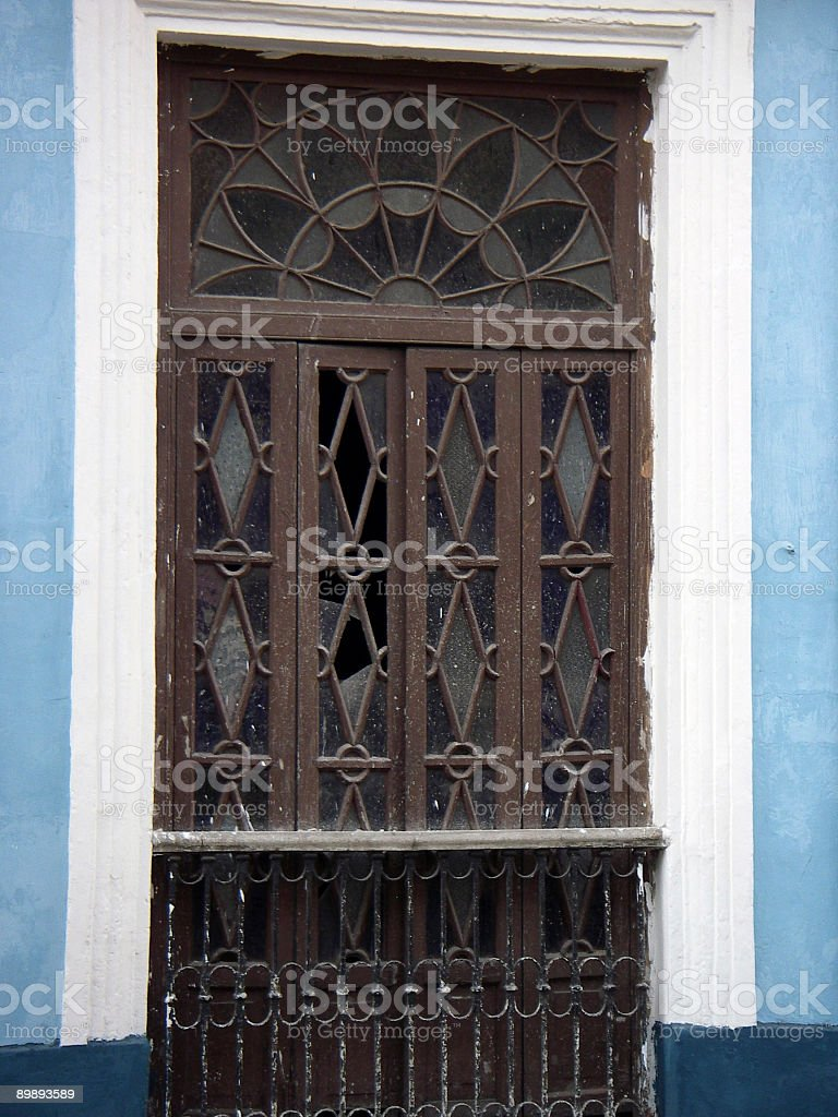 Stained Glass Door royalty-free stock photo