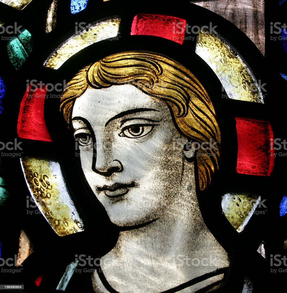 Stained Glass Face royalty-free stock photo