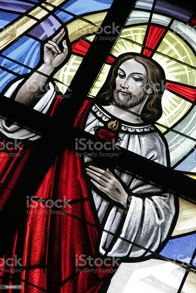 Stained Glass Icon royalty-free stock photo