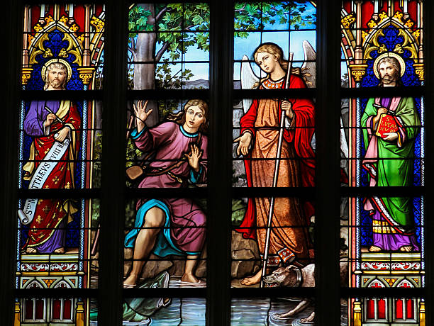 Vitral Em Den Bosch Catedral - foto de acervo