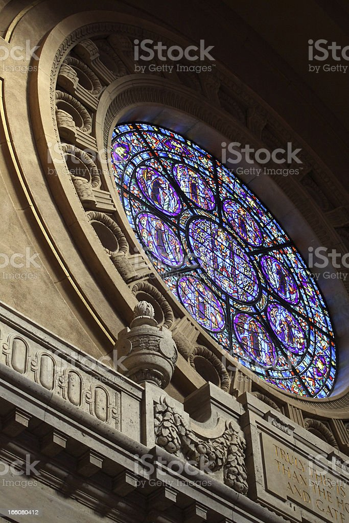 Stained Glass in the Cathedral royalty-free stock photo