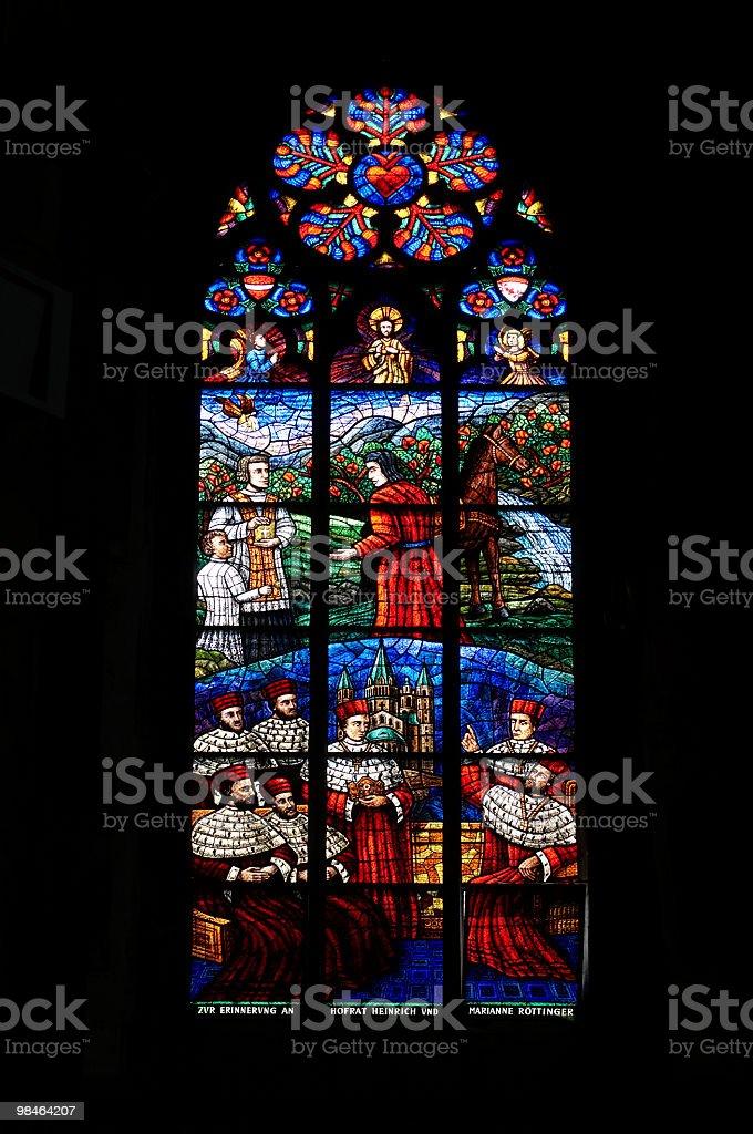 때묻은 유리컵 in Votivkirche 교회 royalty-free 스톡 사진