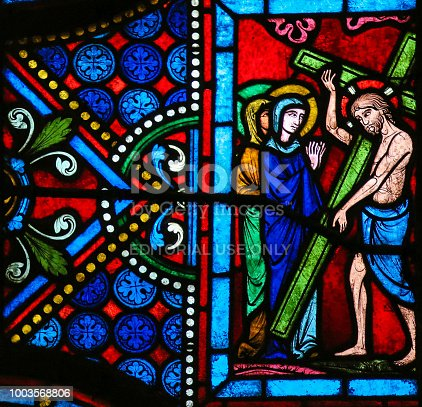 istock Stained Glass - Jesus on the Via Dolorosa 1003568806