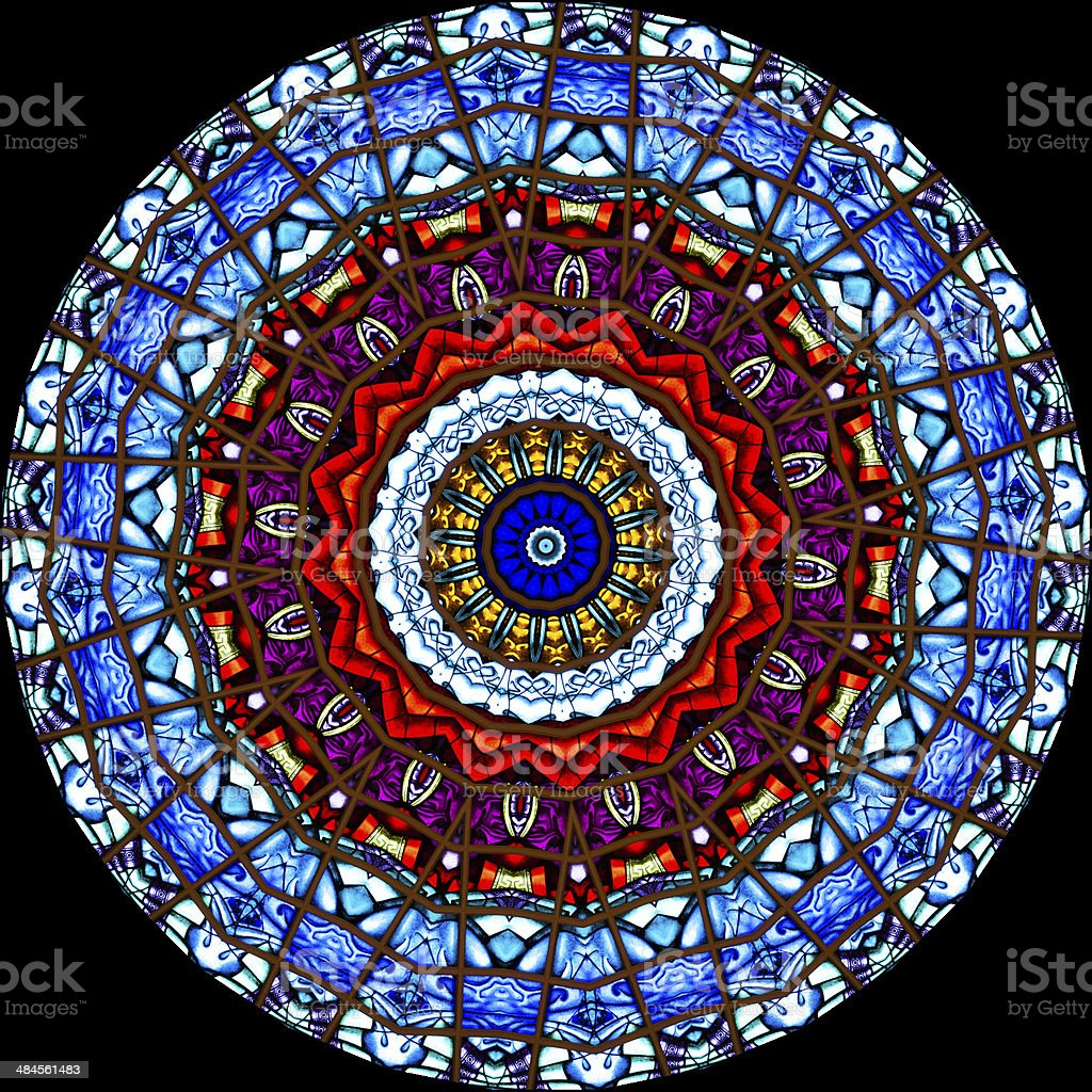 Stained Glass Kaleidoscope stock photo