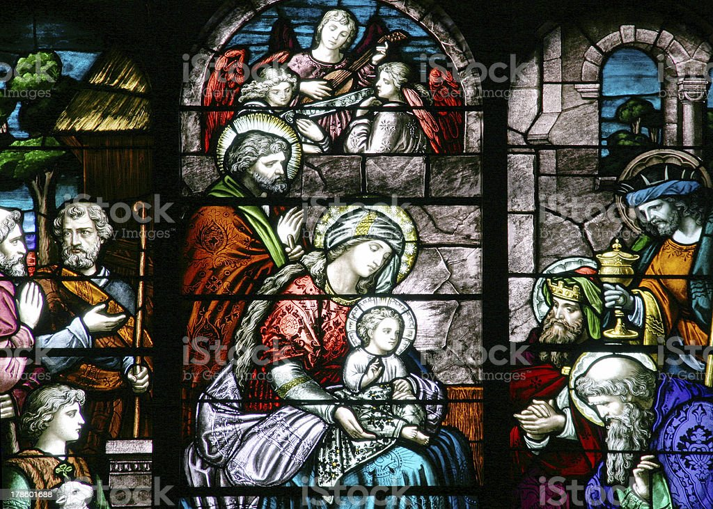 Stained Glass Nativity Scene Stock Photo Download Image Now Istock