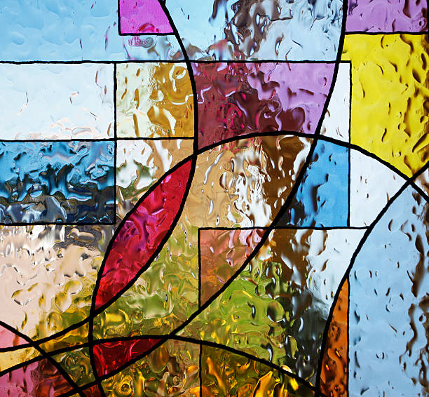 buntglas - glasmalerei stock-fotos und bilder