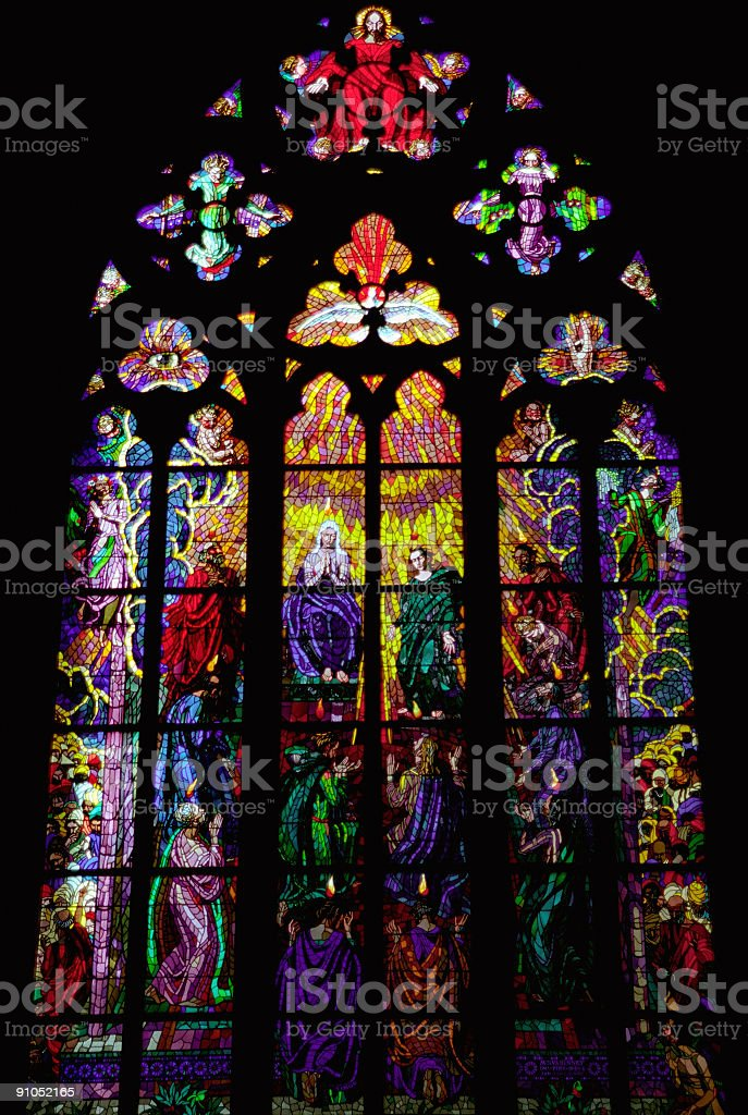 Stained Glass (St. Vitus Cathedral) royalty-free stock photo