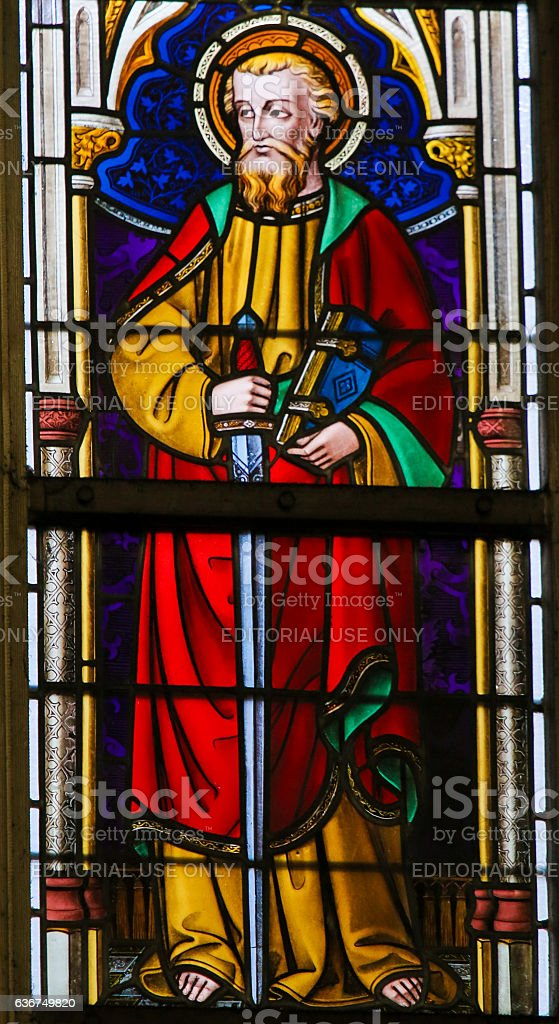 Stained Glass - Saint Paul stock photo