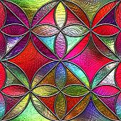 3D render, motif pattern