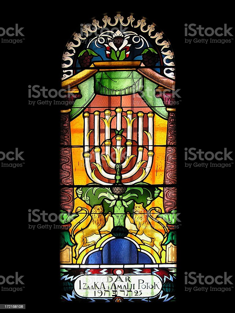 Stained glass - Tempel Synagogue royalty-free stock photo