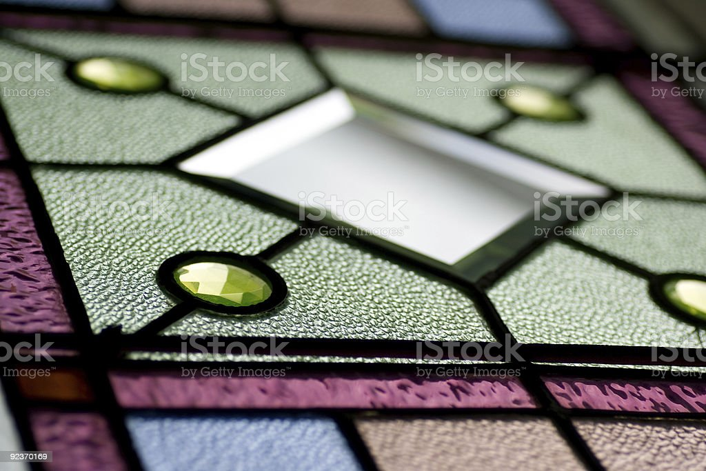Stained glass texture royalty-free stock photo