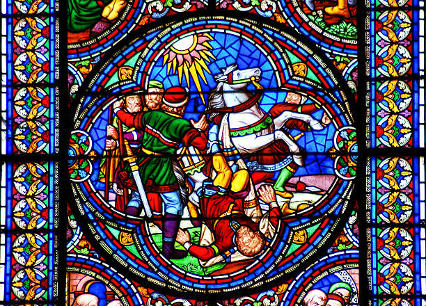 Stained glass window conversion of Saint Paul – Foto