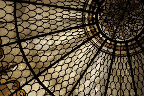 Stained Glass Window Horizontal Detail Stock Photo - Download Image Now
