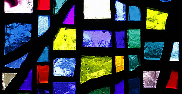 Stained Glass Window Pattern stock photo