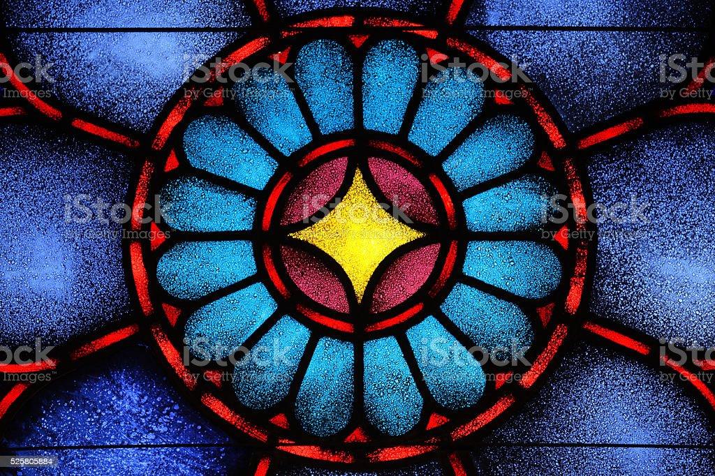 Stained Glass Window Star David stock photo