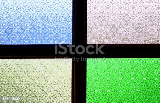 628471550 istock photo Stained glass window texture for background and design art work. 893228032
