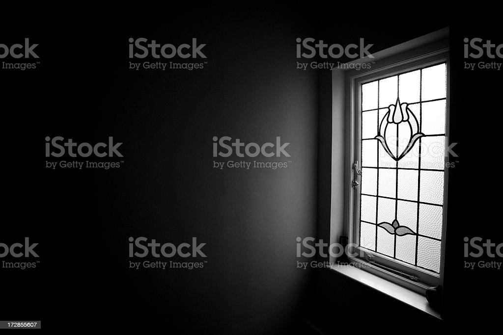 Stained Glass Window & Wall royalty-free stock photo