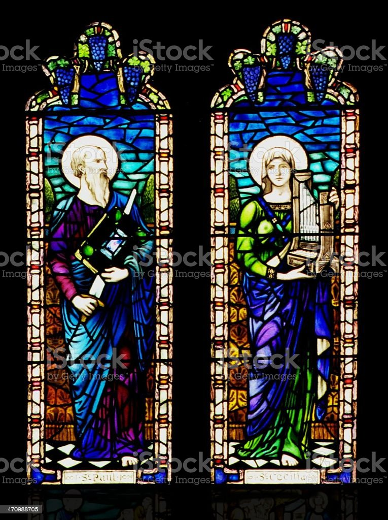 Stained Glass Windows 1 royalty-free stock photo