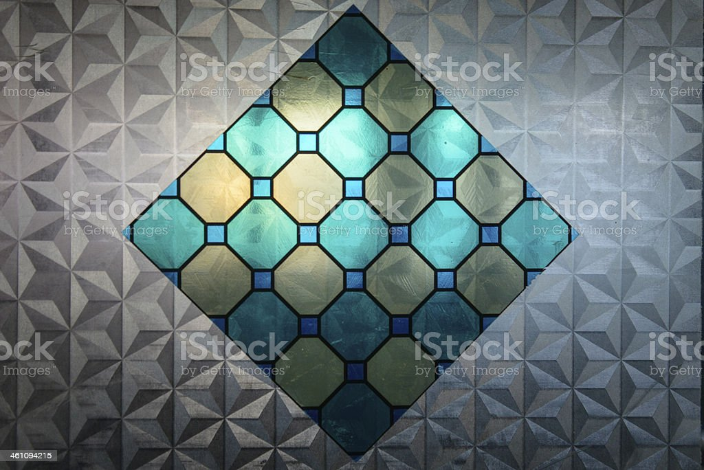 Stained glass with texture royalty-free stock photo