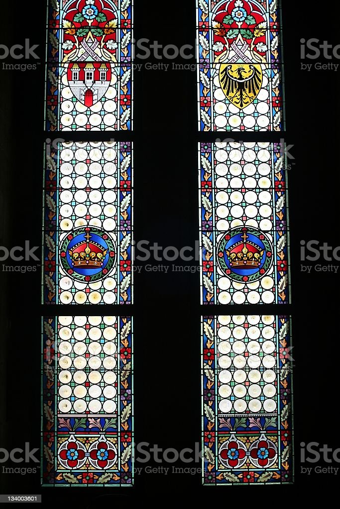 Stained glasses II stock photo