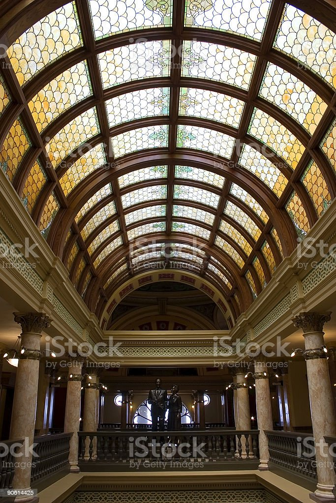 Stained Glasses of the Capital Building royalty-free stock photo