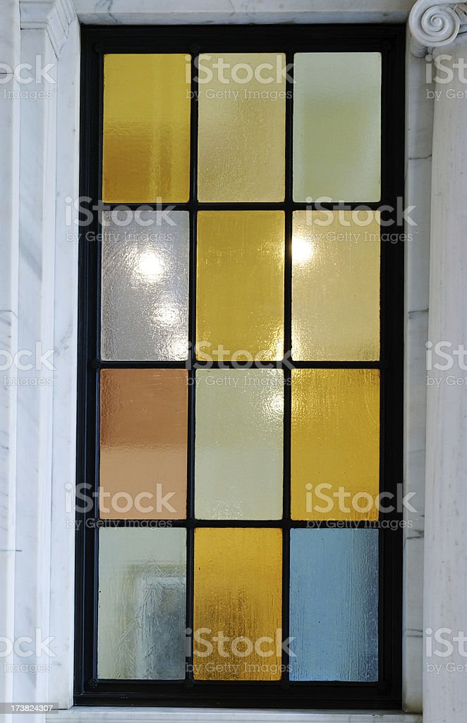 Stained multi colored glass royalty-free stock photo