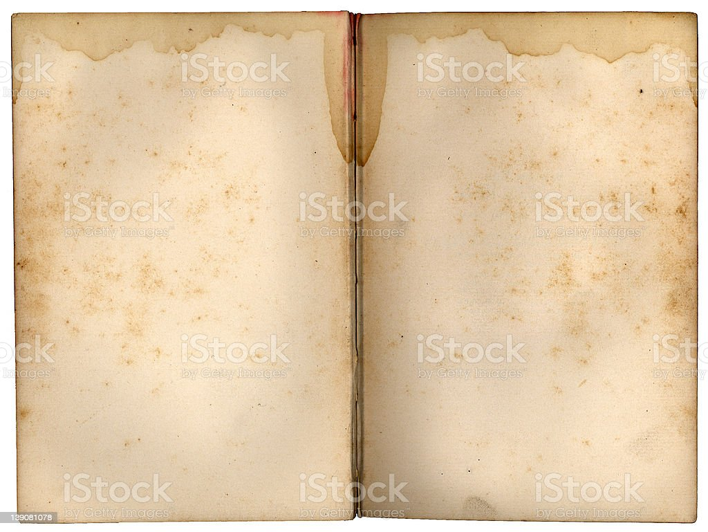 stained old page 3 (on white) royalty-free stock photo