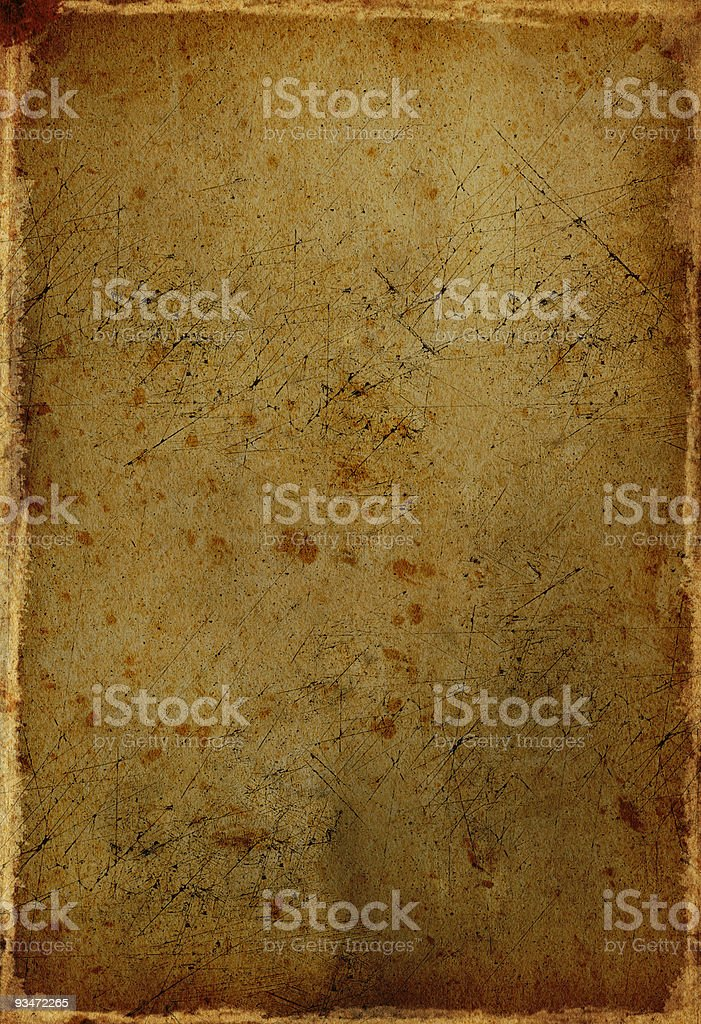 Stained, Scratched, Grunge Paper stock photo