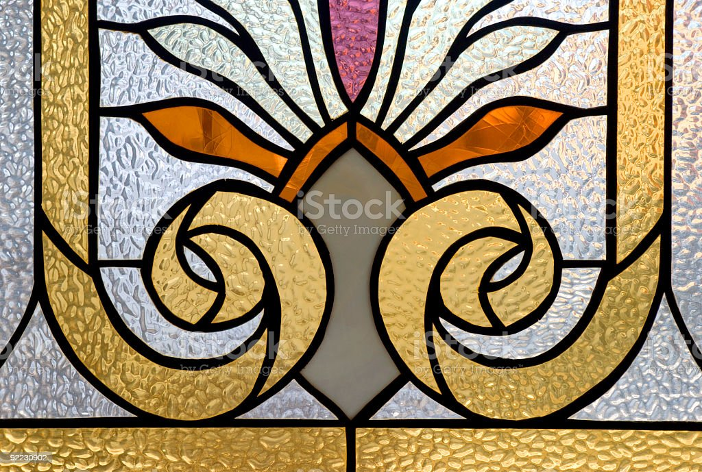 Stained-glass window royalty-free stock photo