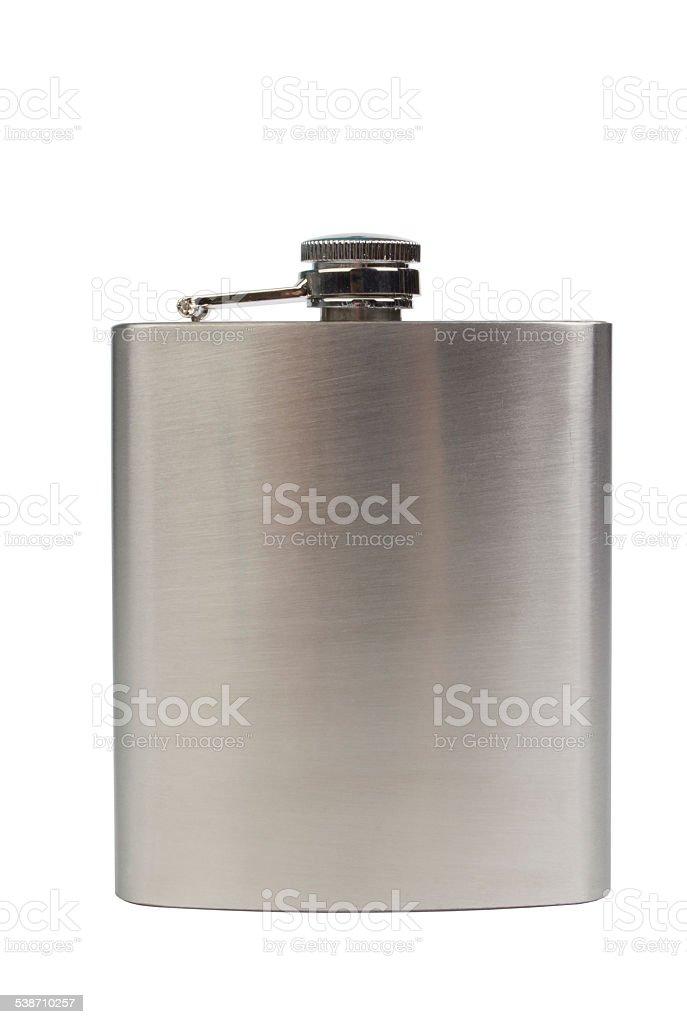 Stainles acciaio recipiente isolato su sfondo bianco - foto stock