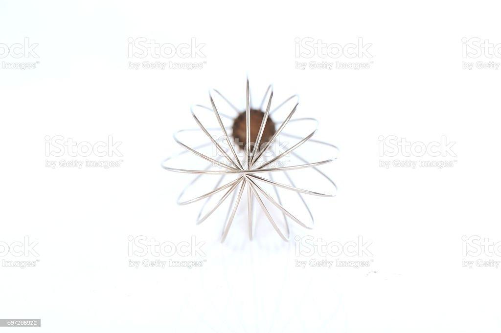 stainless balloon whiskon white background royalty-free stock photo