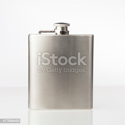 istock Stainless hip flask 477908433