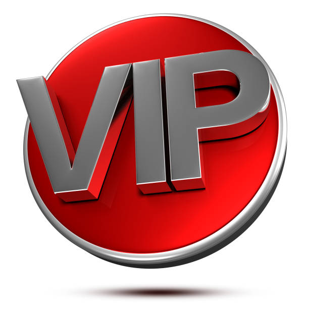 VIP Stainless steel 3d. stock photo