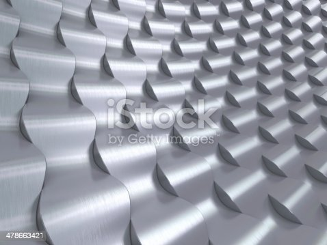 537763543 istock photo Stainless Steel 3d waves background 478663421