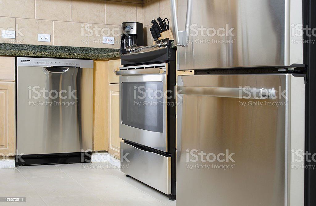 Stainless Steel Appliances stock photo