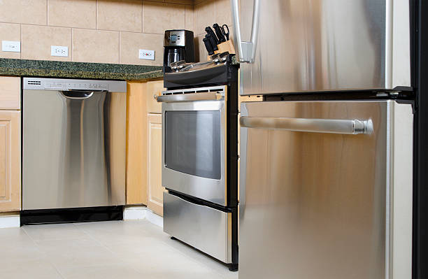 stainless steel appliances - stainless steel stock pictures, royalty-free photos & images