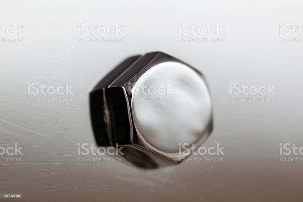 Stainless Steel bolt head royalty-free stock photo