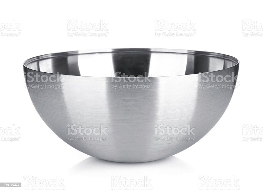 Stainless steel bowl - 免版稅不銹鋼圖庫照片