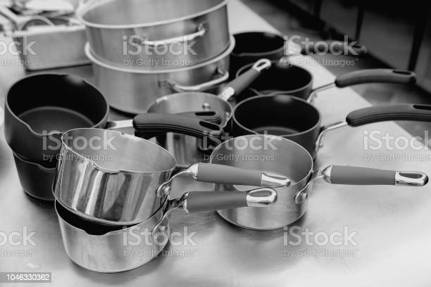 Stainless Steel Cookware Kitchenware Set Stainless Steel Pots Kitchen Utensils Stock Photo Download Image Now Istock