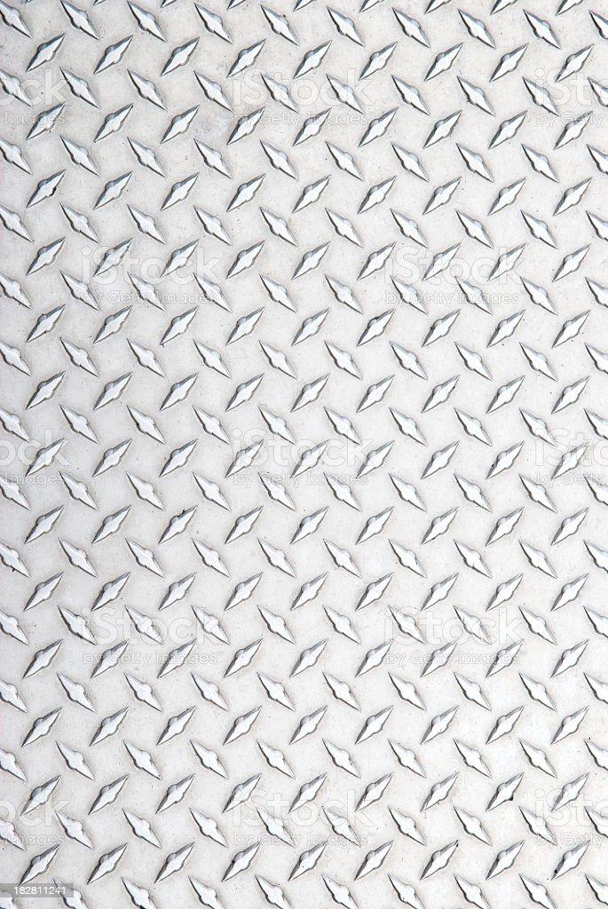 Stainless Steel Diamond Tread Background Silver Full Frame stock photo