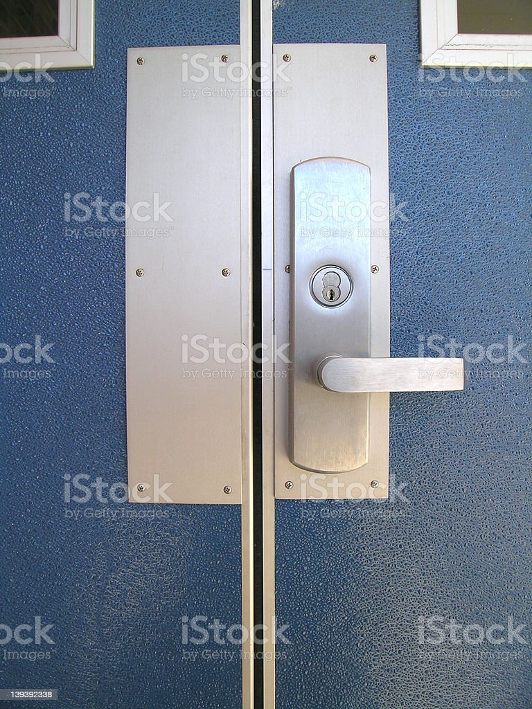 Stainless Steel Door Handle stock photo