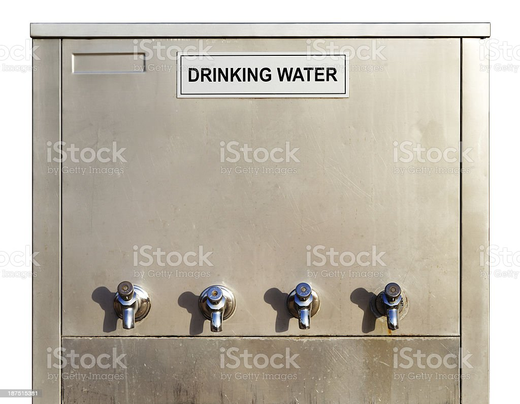 Stainless steel drinking water dispenser royalty-free stock photo