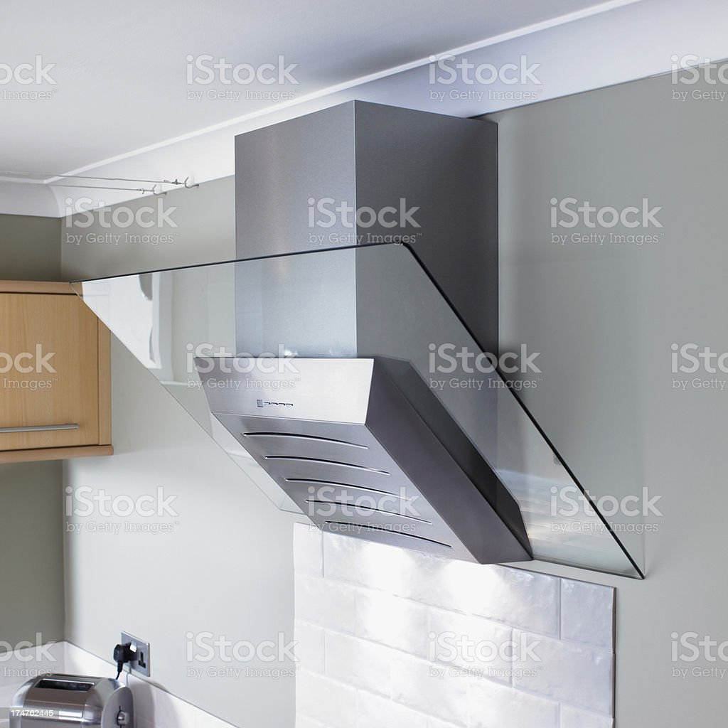 Stainless Steel Extractor Fan In Kitchen Environment Stock Photo Download Image Now Istock