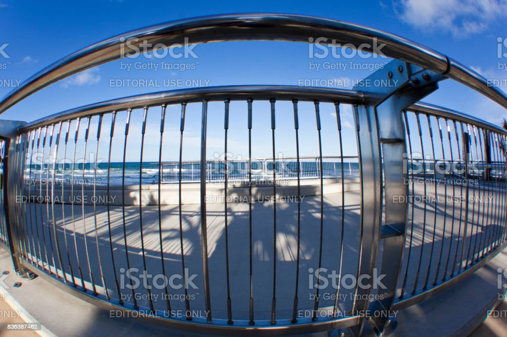 Stainless Steel Fance at Gold Coast City Surfers Paradise  -  Australia stock photo