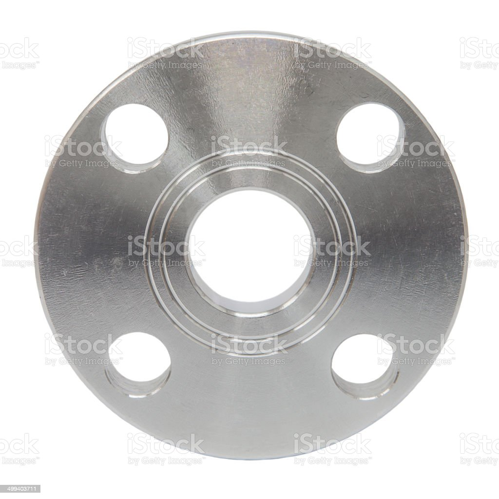 Stainless steel flange royalty-free stock photo