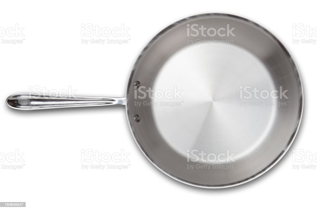 Stainless steel frying pan royalty-free stock photo